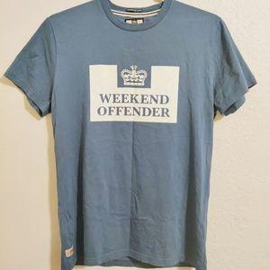 Weekend Offender steel blue t-shirt